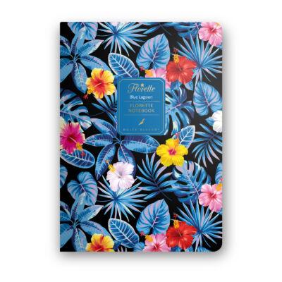 Blue Lagoon - Florette Notebook - vonalas