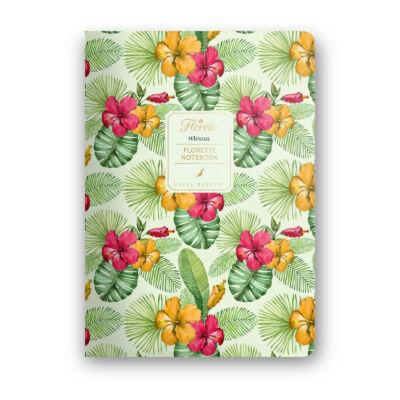 Hibiscus - Florette Notebook - vonalas