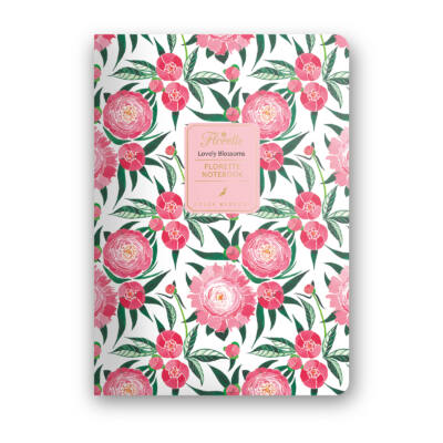 Lovely Blossoms - Florette Notebook - vonalas
