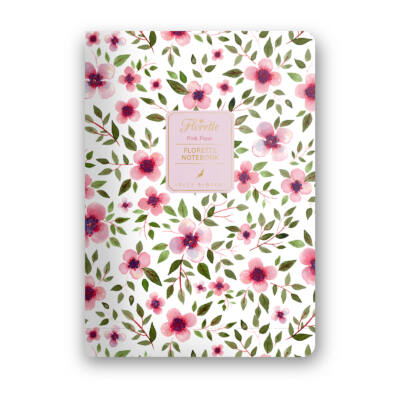 Pink Flow - Florette Notebook - vonalas
